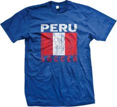 Peru Soccer Flag Peruvian World Cup Nationality Ethnic Pride -Mens T-Shirt