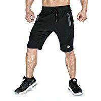 BROKIG Men's Gym Shorts, Fitted Active Sport Running Mesh Shorts With Pockets *** Learn more by visiting the image link.