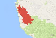 Soberanes Fire 2016 - Zoom In to Cover the Immediate surroundings of the Fire