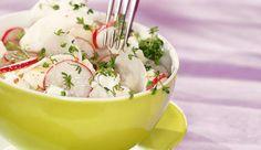 MAGGI Rezeptidee fuer Radieschen Rettich Salat mit Ziegenfrischkäse