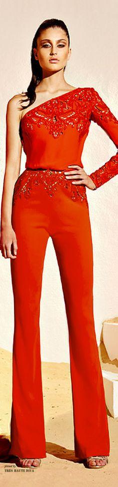 The Millionairess of Pennsylvania: Stunning wardrobe Zuhair Murad Resort 2015 red jumpsuit