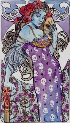 XIII - La mort - Tarot art nouveau par Antonella Castelli
