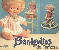 Uno de los primeros anuncios de las muñecas #Barriguitas de Famosa. #dolls #muñecas #vintage #publicidad