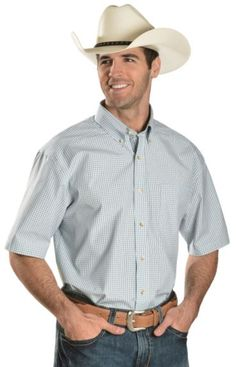 Ariat White Gabe Checked Short Sleeve Shirt available at #Sheplers