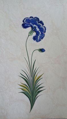 Nurcan MeydanKaranfil çiçeği Bunch Of Flowers, Different Flowers, Art Floral, Ebru Art, Hand Painted Dress, Turkish Art, Botanical Drawings, Art Design, Fabric Painting
