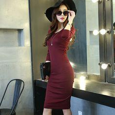 Elegant Knit Winter Dress //Price: $15.99 & FREE Shipping //     #hashtag1