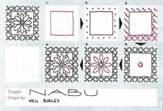 This is the last tangle pattern I've based on Islamic art pieces in the British Museum and the Victoria & Albert Museum. This originally appeared on a glazed terracotta tile in the Nabu ...