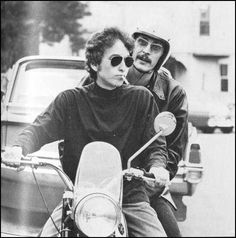 "bobdillpickle: ""July 50 years ago, Bob Dylan crashed his Triumph motorcycle in Woodstock, New York. The exact cause of the accident is unclear, but he suffered from a cracked vertebrae and. Bob Dylan, Like A Rolling Stone, Rolling Stones, Rock N Roll, Simple Twist Of Fate, Minnesota, Robbie Robertson, Blowin' In The Wind, Zimmerman"