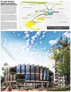 Finalistas del Concurso Nacional de Arquitectura Papalote Museo del Niño Iztapalapa / México,Propuesta de Armando Birlain López, David Martínez Ramos y Ximena Pérez Tamariz