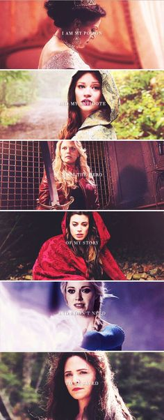 OUAT ladies + stereotype and aesthetics