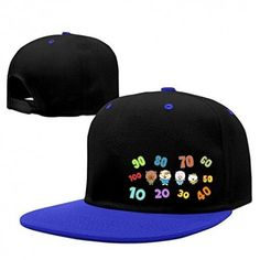 Brownie Embroidered Rapper Cap Flat Peak Hipster Hair Snapback Fashion Hat