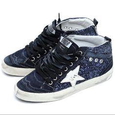 Golden Goose Deluxe Brand Mid Star - Navy Bling Bling Sneakers Sale c9c227b4c2
