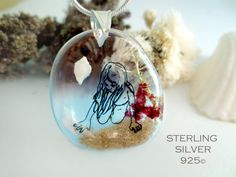 The little Nell in the water necklace: sterling silver by Neraidas