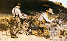 Gustave Courbet - The Stonebreakers クールベ 石割り人夫