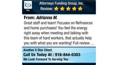Great staff and team! Focuses on Refinances and home purchases! You feel the energy right...