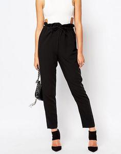 Paperbag waist pants insp. | Pattern Runway Pattern + tapered leg