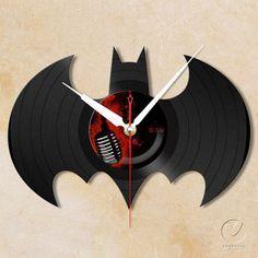 vinyl batman wall clock!