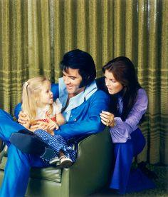 Elvis, Priscilla, Lisa Marie Presley