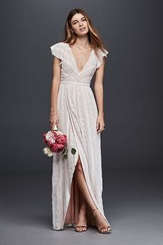 Backyard Wedding Dresses. Take the plunge in airy embroidery.