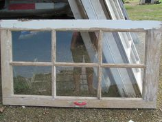 "Plain 6 Pane Barn  Color Window 1900s Window Wedding Vintage Country Primitive 37 1/2"" X 20 1/2"". $30.00, via Etsy."