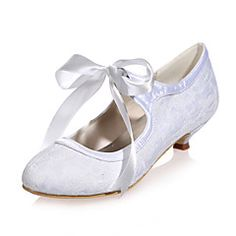 24ae3cbba858 Women s Spring Summer Fall Lace Wedding Party   Evening Low Heel Black Blue  Pink Ivory White