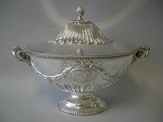 A REGAL STERLING SILVER SOUP TUREEN, United Kingdom, 1865  no artists name on original site