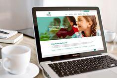 Home, site Eleva Educação - laptop.