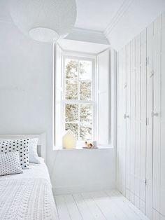 Witte slaapkamer van interieurstyliste Kim van Rossenberg ...