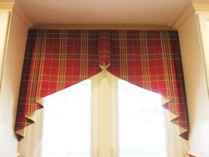 Tapered Box Pleated Valance is in Robert Allen Elba Plaid - Lynn Chalk - for the guest room, maybe?