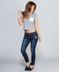 WetSeal Razor Sharp Ripped Skinny Jeans Found on my new favorite app Dote Shopping #DoteApp #Shopping
