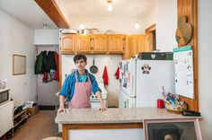 "In the modest but comfortable kitchen of MEN's JD Samson's two-bedroom apartment in Williamsburg, Brooklyn, she loves to ""play housewife"" cooking for her girlfriend. Here's what else JD loves about her kitchen."