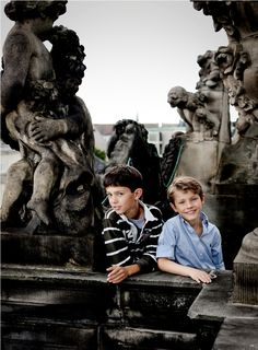 H.H. PRINCE FELIX  TURNED 9 IN 2011  T.H. Prince Nikolai and Prince Felix THE ROOF OF AMALIENBORG