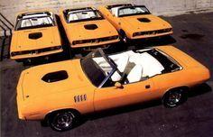 Four RARE, RARE, RARE 1971 Plymouth Hemi Barracudas!