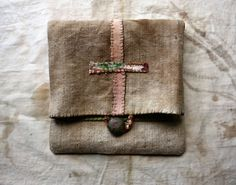 LaTouchables Bags and Things---a little story with a thread running through it. Great idea for pouch to protect jewelry I sell. Life Symbol, Textiles, Fabric Bags, Antique Metal, Handmade Bags, Small Bags, Bag Making, Tote Bags, Hand Sewing