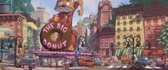 This BeautifulZootopia Concept Art Explains How All Animals Live Together In One City