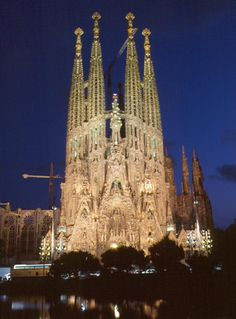 Barcelona Catedral de La Sagrada familia de Gaudi