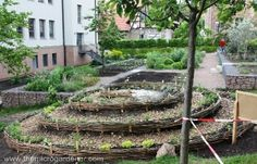 I remember seeing the herb garden at FutureFarming's headquarters last summer, and I noticed it was circular, surrounded by rocks, and with an apparent plan. It may have been planted with the 'herb spiral' in mind. Herb Garden At Future Read More .