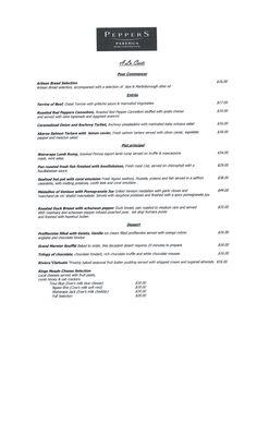 Peppers menu