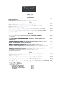 Peppers menu