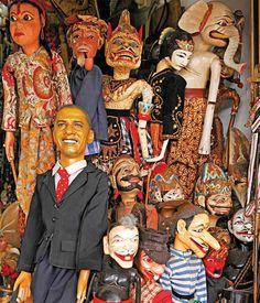 Wonderful wayang in Jalan Surabaya Flea Market, Menteng, Jakarta