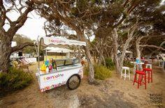 Trampoline Ice cream cart on location at Portsea Polo