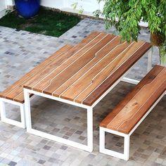 mesa baobá • madeira de demolição_peroba de campos + estrutura em ferro | baobá table • reclaimed wood_peroba de campos + iron structure