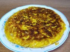 Tortilla de patatas fritas (exprés)