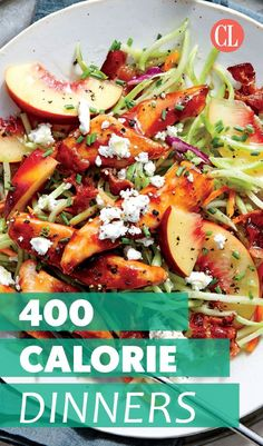 Here's an easier way to go about the math of weight loss than tracking down nutritional info and logging every bite: build a strong portfolio of delicious low-calorie meals and let it do the work for you. We'll get you started with this collection of 400 Calorie Dinner, 600 Calorie Meals, Meals Under 400 Calories, 300 Calories, No Calorie Foods, Low Calorie Recipes, Healthy Low Calorie Dinner, Recipe With Calorie Count, Healthy Meal Prep