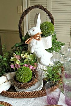 lovely.......bringing out our bunnies for easter.........