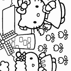 10 Beste Afbeeldingen Van Hello Kitty Kleurplaten Coloring Book