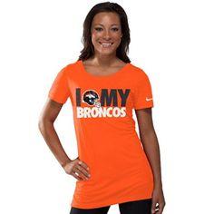 Nike Denver Broncos Women's Team Dedication Tri-Blend T-Shirt - Orange