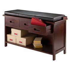 Adriana 2-Pc Storage Bench with Cushion Seat