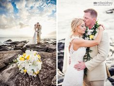 In love during their Maui wedding at Merriman's in Kapalua by Mike Sidney Photography!