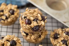 Baked Blueberry Oatmeal Cups   Healthy Ideas for Kids